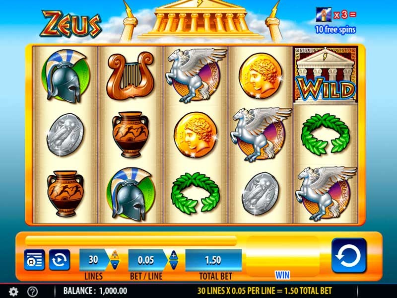 First Glimpse of Incredible Zeus Slots